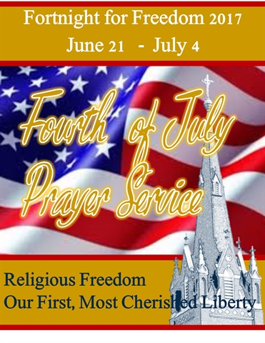 religious liberty July 4 prayer service