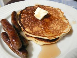 Pancake and Sausage Breakfast