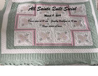 All Saints Quilt Social - March 9, 2019