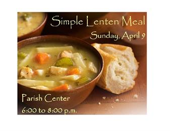 Simple Lenten Meal - April 9