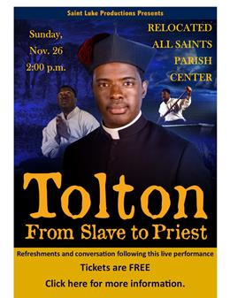 LOCATION CHANGE - Tolton - Nov 26 - PARISH CENTER