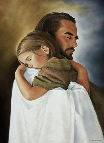 jesus hugging child