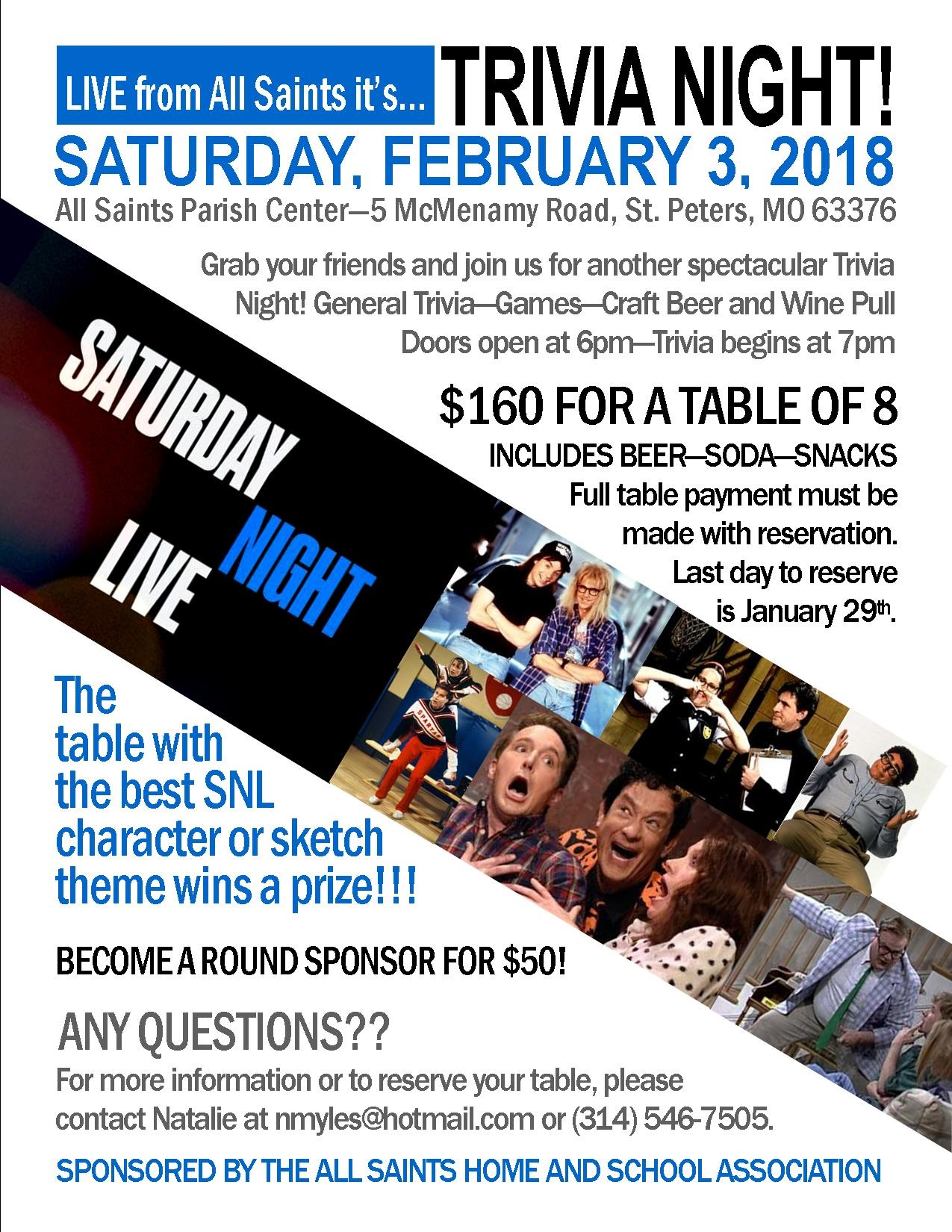 Trivia Night Flyer 2018