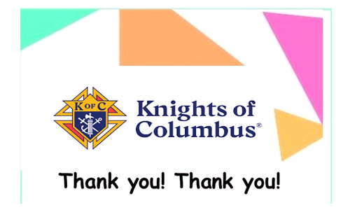 Thanks to the Knights!